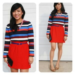 j. crew // colorblock stripe top