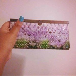 Faux Snake Skin Wallet/Clutch