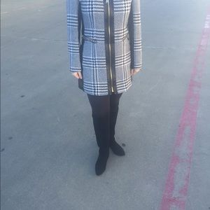 Jackets & Blazers - Faux Leather Trim Coat (trench)