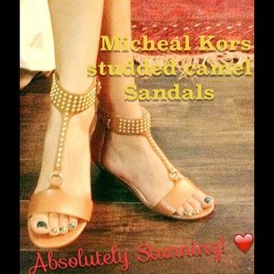 fLASh SALEMK leather studded sandals