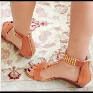 MK leather studded Sandals