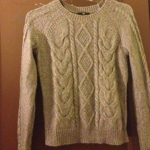 H&M womens brown & gold cable sweater - Size XS