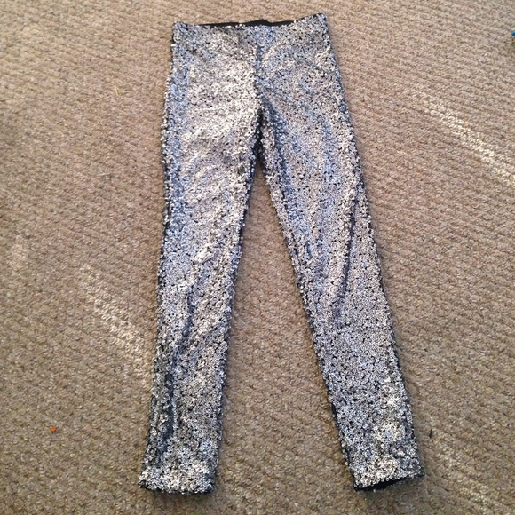 38% off H&M Pants - Silver Sequin Pants. from ...