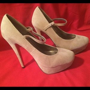 Traffic  Shoes - Red bottom tan Mary Jane heels