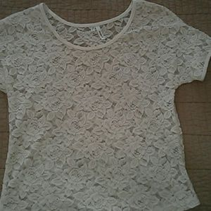 Studio Y Tops - White lace top