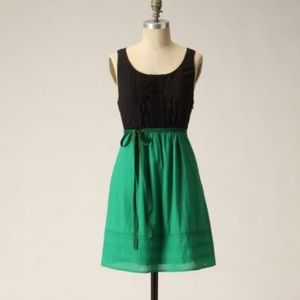 Anthropologie Jacqueline green and black dress