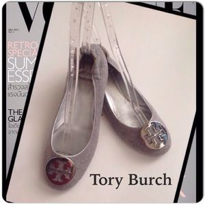 ❤️️Host Pick Tory Burch Grey Flannel Ballet Flats