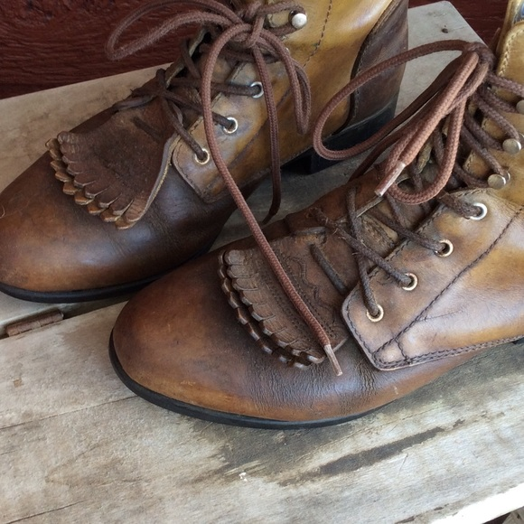 80% off Ariat Boots - Ariat lace up cowboy boots from Alyssa's ...