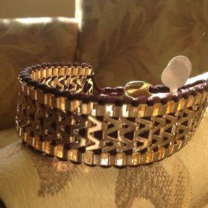 Towne & Reese Jewelry - Flexible Gold Braided Bracelet