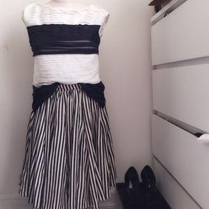 Anthropologie Pleated Skirt+Ann Taylor Pleated Top
