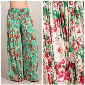 Pants - Hawaiian Palazzo Bottoms