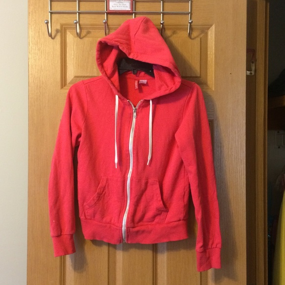 H&M - H&M Bright Red Zip Up Sweater from Michele's closet on Poshmark