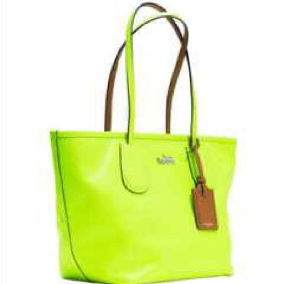 27% off Coach Handbags - ❗ ❗️SOLD❗ ❗️Coach Neon Tote in ...