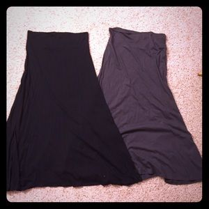 NWT 2 gray & black express maxi skirts