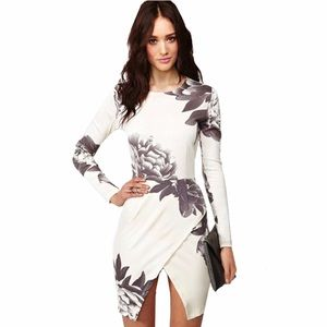 New Gorgeous White Floral Print Wrap Dress❤️