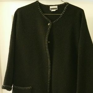 Express 100% Wool Sweater Jacket