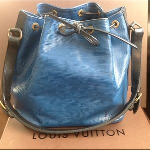 100% Authentic Louis Vuitton Blue Epi Noe