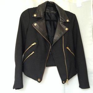 ZARA Wool/Leather Jacket