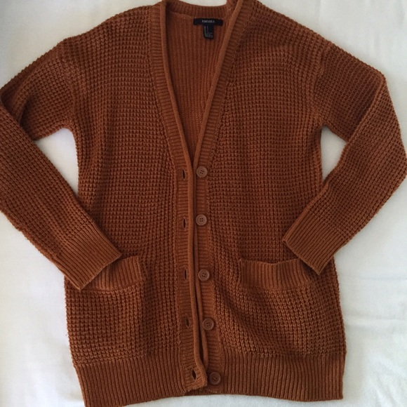 Forever 21 - 💿 SOLD 💿Forever 21 Rust Waffle Knit Cardigan from ...