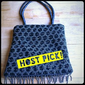 Host Pick! Exquisite hand-beaded embroidered bag