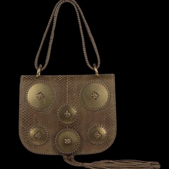 4e6eeb3f50 Salvatore Ferragamo Kamelia Python Shoulder Bag