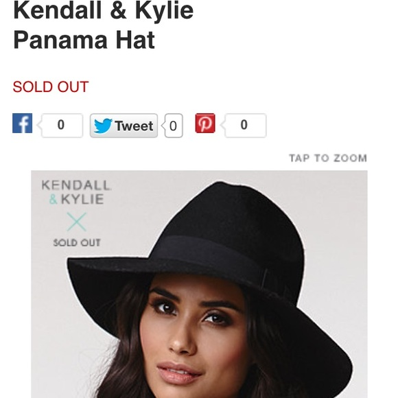 32cdf7988 Kendall & Kylie Panama Hat NWT