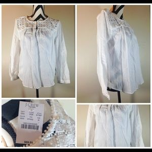 J.crew Factory Embroidered Peasant Top size M