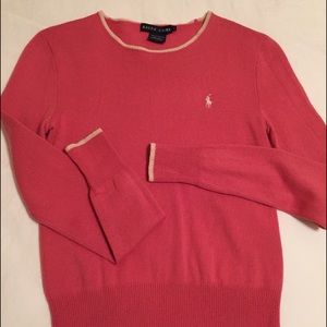 Ralph Lauren Sweaters - Pink Cashmere Ralph Lauren Sweater Sz small