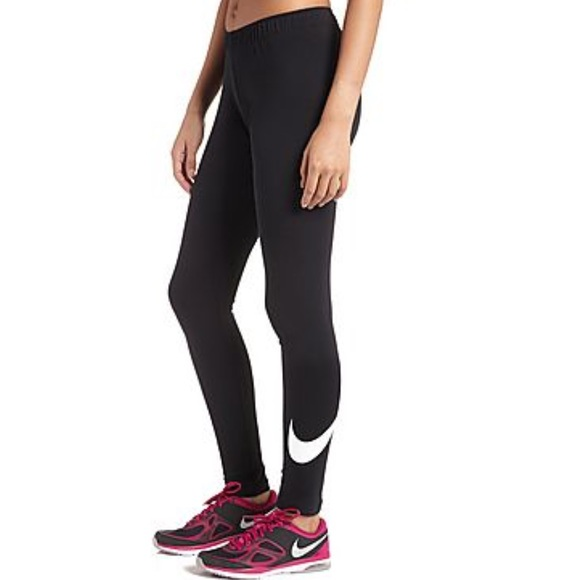 nike nike leg a see large nike swoosh tights from angie. Black Bedroom Furniture Sets. Home Design Ideas