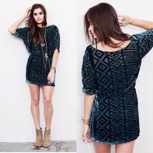 +Twelfth Street Cynthia Vincent Green Mini Dress+