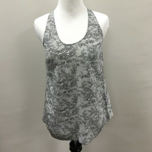 Joie Tops - Joie silk lace print tank