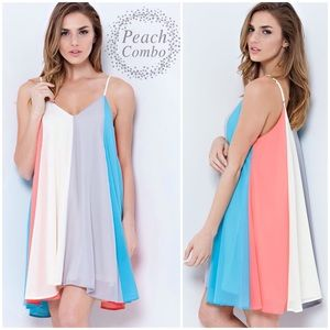 "NEW 💜 ""Cotton Candy"" Colorblock Dress"