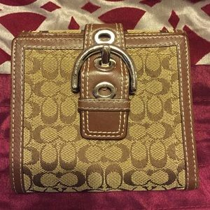 Brown Buckle Coach Wallet