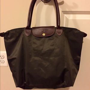 Brand New Longchamp Army Green Large Tote