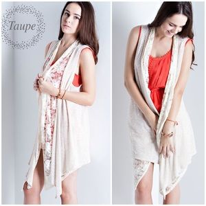 "LOWEST ""Style Me Pretty"" Lace Knit Vest"