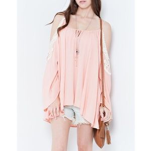 "Bare Anthology Tops - LOWEST ""Peaches + Cream"" Off Shoulder Top"