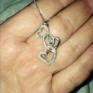 Kay Jewelers - Triple Heart Diamond Necklace