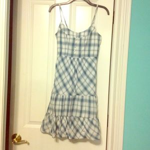 Blue Plaid American eagle sun dress