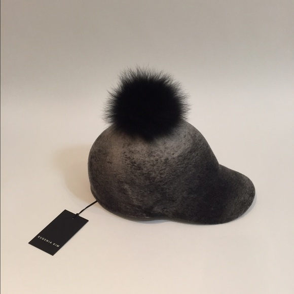 9b4f79b5 Eugenia Kim Accessories | Baseball Cap With Fur Pom Pom | Poshmark