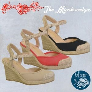 The stunning MICAH wedges - CORAL