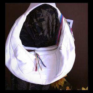 ELLIOTT LUCCA WHITE LEATHER BAG