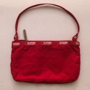 LeSportsac Red Demi Tasse Purse/Clutch
