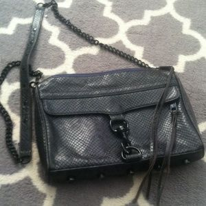 Rebecca Minkoff MAC Snake Purse w black hardware