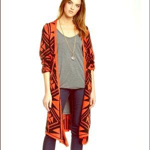 Wrap Coat Long Utility Cape Cardigan Sweater NWT