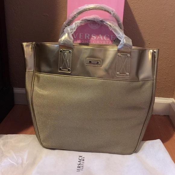 209ff2b507 🔪Versace Parfums Large Gold Tote Bag. M 54f1eabbf092822cf9002fa5