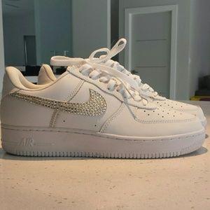 Nike Shoes - Mens Diamond Studed White Nike Air Force 1 s 470b1450e