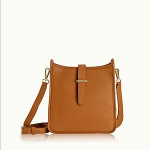 GiGi New York Elle Crossbody bag in saddle brown