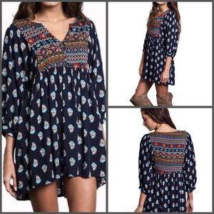 Umgee Dresses & Skirts - Bohemian Chic Navy Tunic Dress