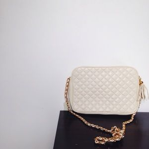 Vintage ivory chain strap purse