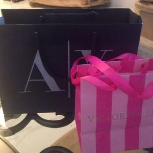 A X Armani Exchange Accessories - A X and small Victoria s Secret paper bags be3d2b3d1bbd6
